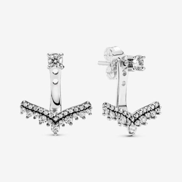 🥂Pandora Princess Wishbone Stud Earrings